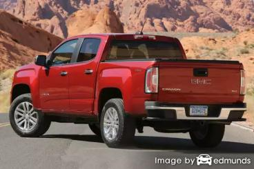 Insurance rates GMC Canyon in Stockton
