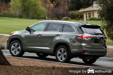 Insurance rates Toyota Highlander Hybrid in Stockton